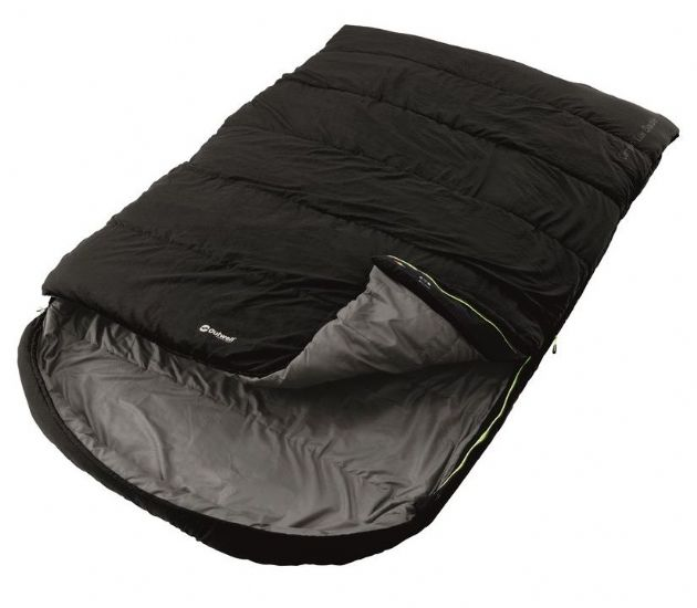 Outwell Sleeping bag - Campion Lux Double Black, camping sleeping bags - Grasshopper Leisure